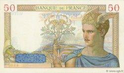 50 Francs CÉRÈS modifié FRANCE  1938 F.18.09 SUP+