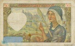 50 Francs JACQUES CŒUR FRANCE  1941 F.19.08 B+