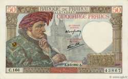 50 Francs JACQUES CŒUR FRANCE  1942 F.19.19 TTB
