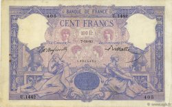 100 Francs BLEU ET ROSE FRANCE  1893 F.21.06 TB