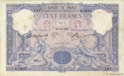 100 Francs BLEU ET ROSE FRANCE  1901 F.21.15 B+