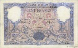 100 Francs BLEU ET ROSE FRANCE  1902 F.21.16 B à TB