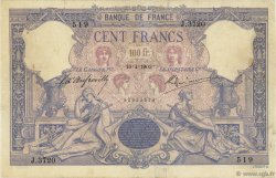 100 Francs ROSE ET BLEU FRANCE  1903 F.21.17 B