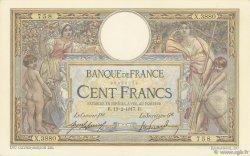 100 Francs LUC OLIVIER MERSON sans LOM FRANCE  1917 F.23.09 TTB+