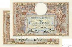 100 Francs LUC OLIVIER MERSON type modifié FRANCE  1937 F.25.03 SUP+