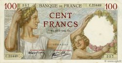 100 Francs SULLY FRANCE  1941 F.26.55 TTB