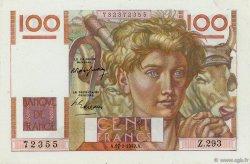 100 Francs JEUNE PAYSAN FRANCE  1949 F.28.22 pr.NEUF