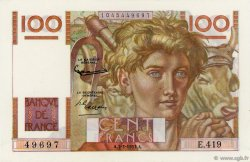 100 Francs JEUNE PAYSAN FRANCE  1952 F.28.31 pr.NEUF