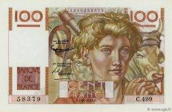 100 Francs JEUNE PAYSAN FRANCE  1952 F.28.34 NEUF