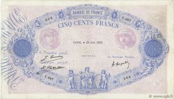500 Francs BLEU ET ROSE FRANCE  1922 F.30.26 TB+