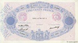 500 Francs BLEU ET ROSE FRANCE  1937 F.30.38 TTB