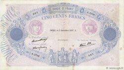 500 Francs BLEU ET ROSE modifié FRANCE  1937 F.31.04 TB