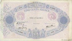 500 Francs BLEU ET ROSE modifié FRANCE  1939 F.31.38 TTB