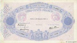 500 Francs BLEU ET ROSE modifié FRANCE  1939 F.31.54 TTB