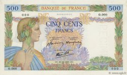 500 Francs LA PAIX FRANCE  1941 F.32.00v pr.NEUF