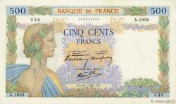 500 Francs LA PAIX FRANCE  1941 F.32.13 TTB