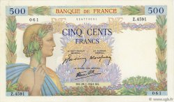 500 Francs LA PAIX FRANCE  1942 F.32.28 SUP+