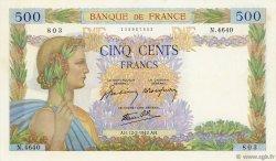 500 Francs LA PAIX FRANCE  1942 F.32.29 SPL