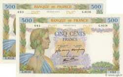 500 Francs LA PAIX FRANCE  1942 F.32.36 pr.NEUF