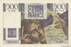 500 Francs CHATEAUBRIAND FRANCE  1948 F.34.08 TTB+