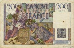 500 Francs CHATEAUBRIAND FRANCE  1953 F.34.12 TB à TTB