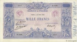 1000 Francs BLEU ET ROSE FRANCE  1922 F.36.38 TTB