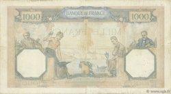 1000 Francs CÉRÈS ET MERCURE type modifié FRANCE  1937 F.38.01 TB+