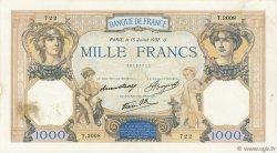1000 Francs CÉRÈS ET MERCURE type modifié FRANCE  1937 F.38.02 TTB+