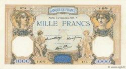 1000 Francs CÉRÈS ET MERCURE type modifié FRANCE  1937 F.38.05 TTB+