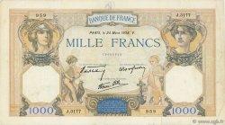 1000 Francs CÉRÈS ET MERCURE type modifié FRANCE  1938 F.38.09 TTB