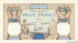 1000 Francs CÉRÈS ET MERCURE type modifié FRANKREICH  1938 F.38.28 fVZ