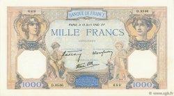 1000 Francs CÉRÈS ET MERCURE type modifié FRANCE  1940 F.38.46 SUP+