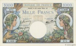 1000 Francs COMMERCE ET INDUSTRIE FRANCE  1944 F.39.12 SPL