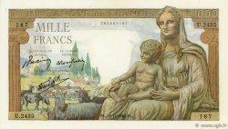 1000 Francs DÉESSE DÉMÉTER FRANCE  1942 F.40.14 pr.NEUF