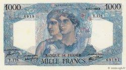 1000 Francs MINERVE ET HERCULE FRANCE  1946 F.41.10 SUP+