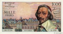 1000 Francs RICHELIEU FRANCE  1955 F.42.13 pr.SUP