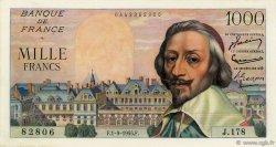 1000 Francs RICHELIEU FRANCE  1955 F.42.15 TTB à SUP