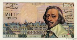 1000 Francs RICHELIEU FRANCE  1957 F.42.25 SUP