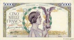 5000 Francs VICTOIRE Impression à plat FRANCE  1942 F.46.35 pr.SUP