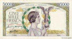 5000 Francs VICTOIRE Impression à plat FRANCE  1943 F.46.49 pr.SPL