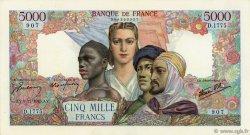 5000 Francs EMPIRE FRANÇAIS FRANCE  1945 F.47.49 SUP