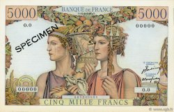 5000 Francs TERRE ET MER FRANCE  1949 F.48.00s2 pr.NEUF