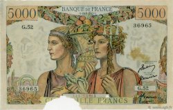 5000 Francs TERRE ET MER FRANCE  1949 F.48.00X B+