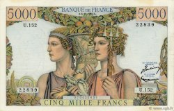 5000 Francs TERRE ET MER FRANCE  1956 F.48.12 TTB