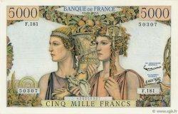 5000 Francs TERRE ET MER FRANCE  1957 F.48.17 SUP