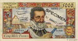5000 Francs HENRI IV FRANCE  1957 F.49.00 SUP+