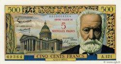 5 NF sur 500 Francs Victor HUGO FRANCE  1959 F.52.02 SPL