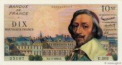 10 Nouveaux Francs RICHELIEU FRANCE  1962 F.57.17 SUP