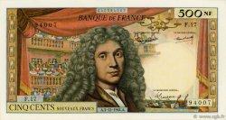 500 Nouveaux Francs MOLIÈRE FRANCE  1964 F.60.07 SUP+