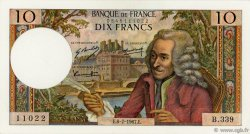 10 Francs VOLTAIRE FRANCE  1967 F.62.27 pr.NEUF